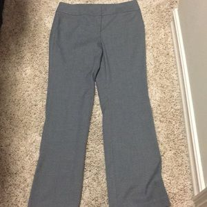 Ann Taylor Signature Gray Pattern Pants Trousers